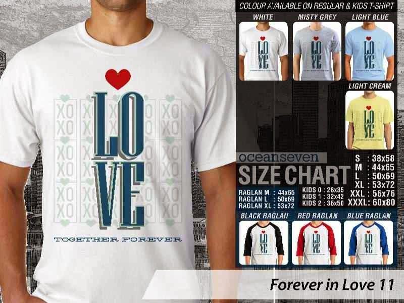 KAOS Pasangan Love |KAOS Forever in Love 11 distro ocean seven