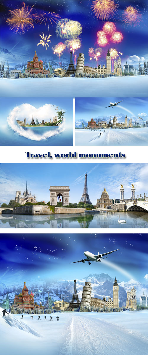 Stock Photo: Travel, world monuments