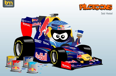 Себастьян Феттель Red Bull RB8 pilotoons 2012