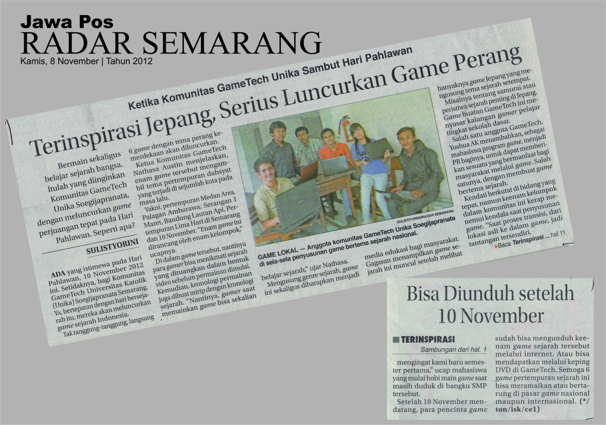 Game Club Unika Soegijapranata