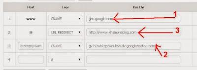 Cài đặt tên miền blogspot