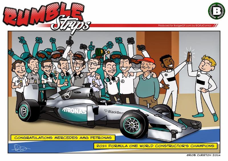 Mercedes - чемпионы 2014 - комикс Rumble Strips
