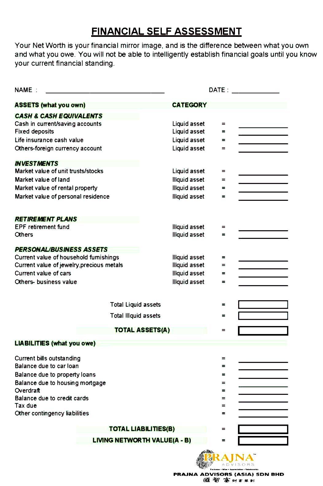 personal balance sheet template .