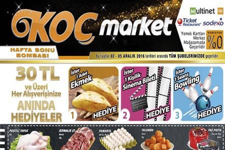 Koç Market 02-05 Kasım Hafta Sonu tüm Şubelerde İndirim