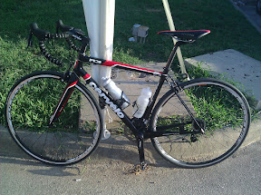 The new bike after its first real ride.