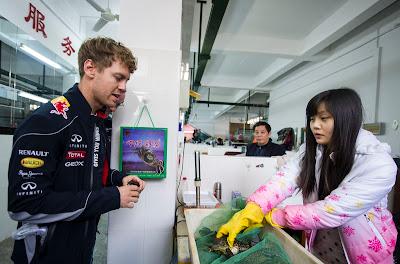 Себастьян Феттель закупается продуктами перед Гран-при Китая 2013
