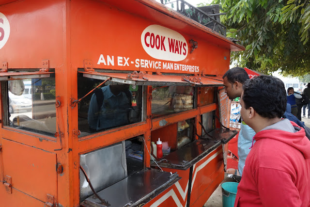 Street eats with Vikas in Delhi.