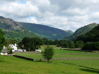 As we set off from Stonethwaite this was the view down the valley ... lots of fields and walls ... a lovely setting.