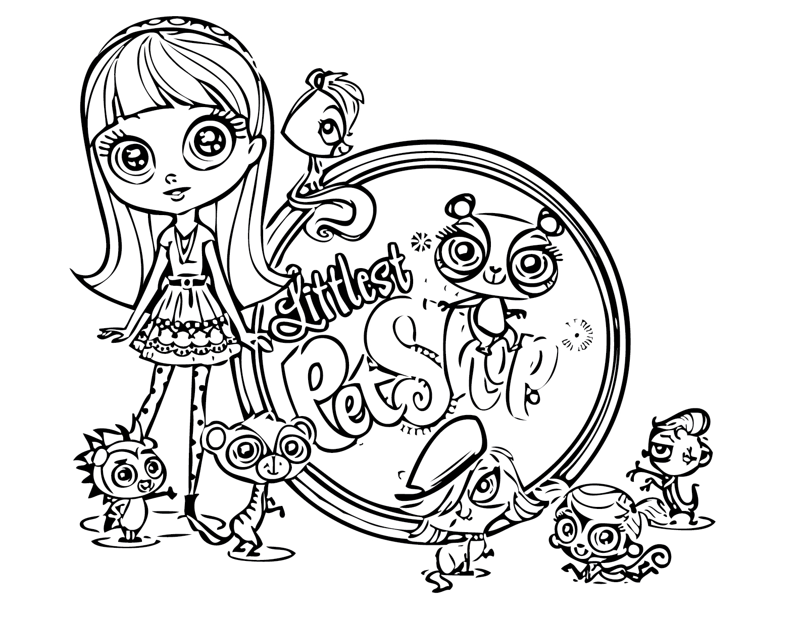 littlest petshop coloring pages - Cute Littlest Pet Shop Coloring Pages