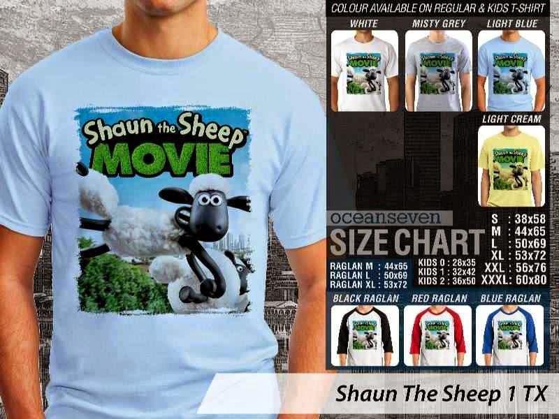 Kaos Movie Shaun The Sheep 1 distro ocean seven