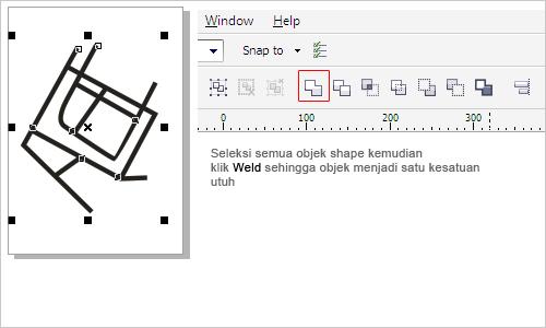 membuat penunjuk arah 3 dimensi dengan coreldraw