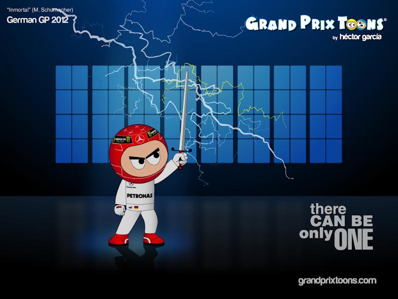 Inmortal Михаэль Шумахер от Grand Prix Toons перед Гран-при Германии 2012