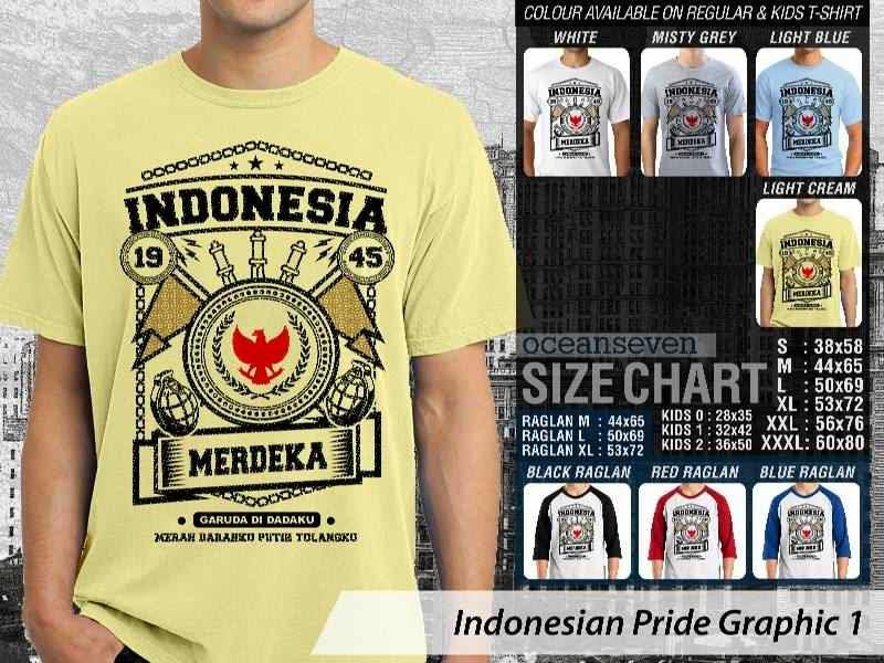 KAOS Indonesia Merdeka Indonesian Pride Graphic 1 distro ocean seven
