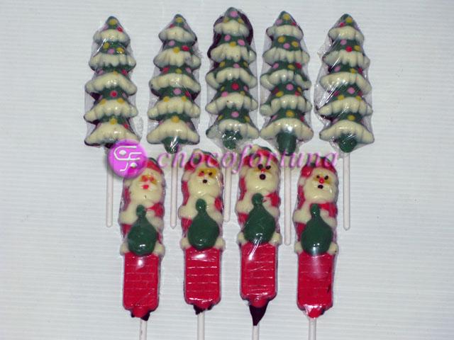 Cokelat coklat Lolipop Pohon Natal Santa Xmas christmas