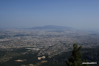 Parnitha, view of Athens.