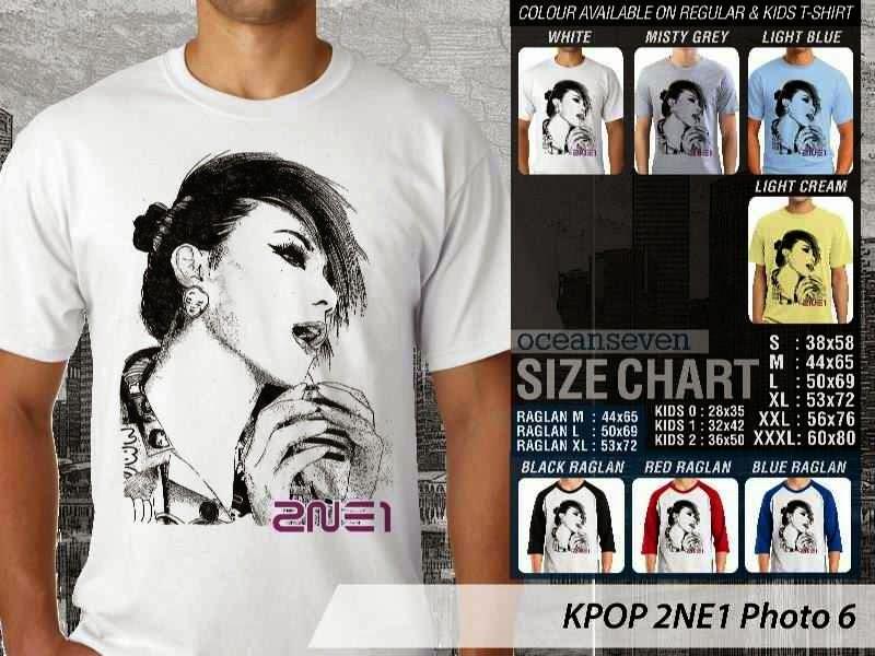 Kaos 2ne1 6 Photo K Pop Korea distro ocean seven