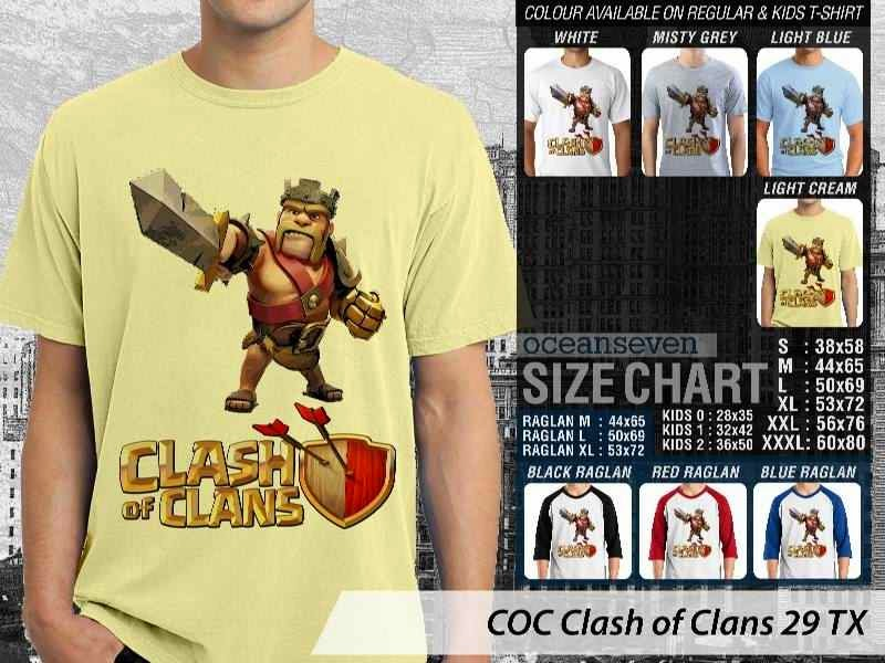 Kaos COC Clash of Clans 29 distro ocean seven