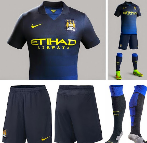 This Is The New Man City Away Kit Which Comes In Black And Blue Shades