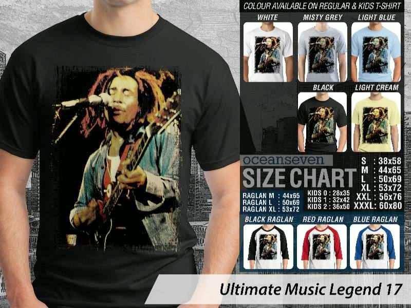 Kaos Bob Marley Legenda Musik 17 distro ocean seven