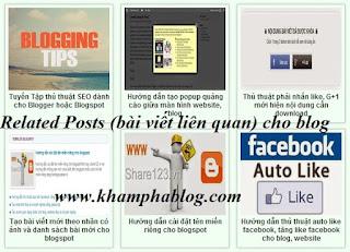 tiện ích bài viết liên quan cho blogspot