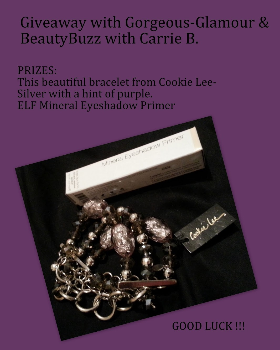 Giveaway with BeautyBuzz w/ Carrie B.