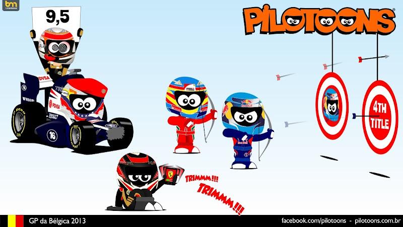 комикс pilotoons по Гран-при Бельгии 2013