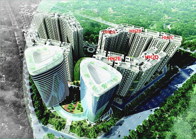 Phối cảnh chung cư Xuân Mai Sparks Tower - Dương Nội