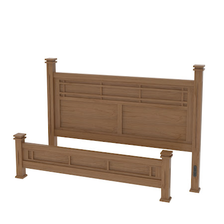 Sacramento Triptych Platform Bed in Natural Cherry