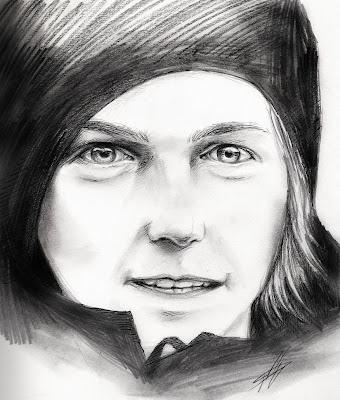 рисунок карандашом и чернилами Кими Райкконена от xfiripax