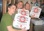Personalized pizzas waiting for us back on the bus...3 catered meals a day and a midnight snack...