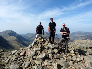 The three of us on Green Gable Summit.