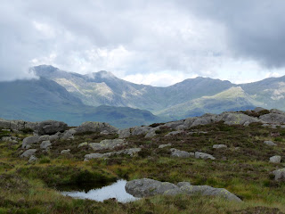 The Coniston Fells from Crook Crag.