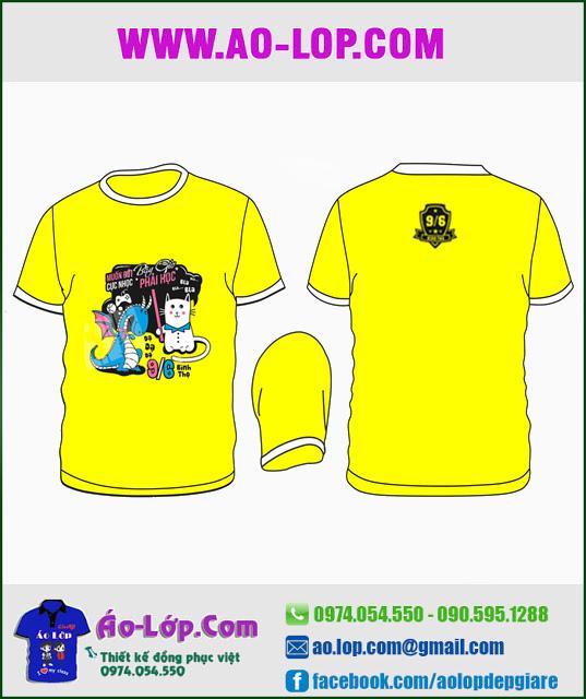 Mẫu áo lớp đẹp màu vàng