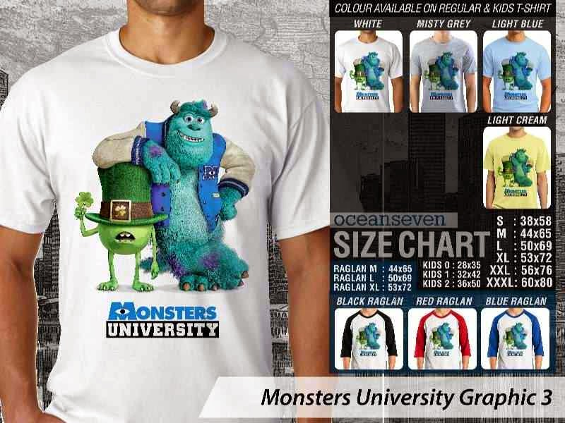 KAOS Monster University 13 Film Lucu distro ocean seven