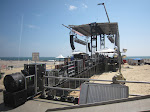 the beach is that way....and so is the stage