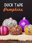 Duck Tape Pumpkins