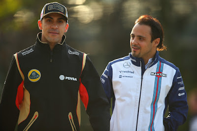 Пастор Мальдонадо и Фелипе Масса гуляют вместе на Гран-при Китая 2015