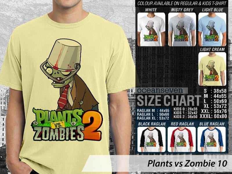 KAOS Plants VS Zombie pvz 10 Game Lucu distro ocean seven