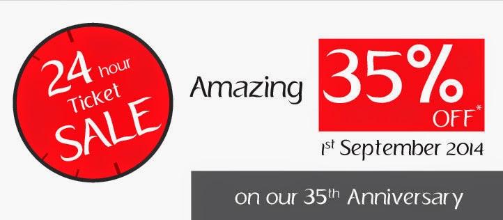 斯里蘭卡航空35週年生日優惠,商務客位全線65折,經濟客位全線8折,只限24小時!
