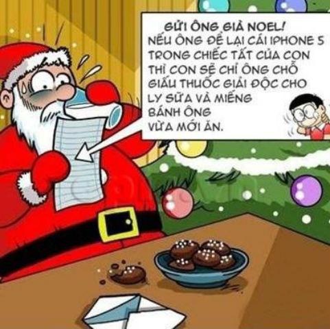Ảnh vui chế ông già Noel phát quà