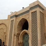 Outside the Hassan II Mosque - Casablanca, Morocco