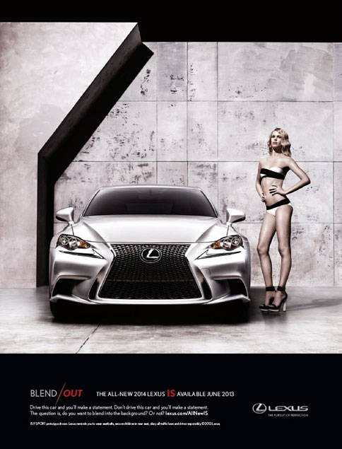 2014 Lexus IS Blend's Out Bikini Models In SI Swimsuit Issue