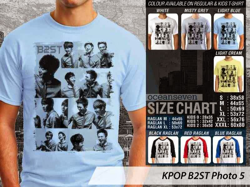 Kaos B2st 5 Photo K Pop Korea distro ocean seven