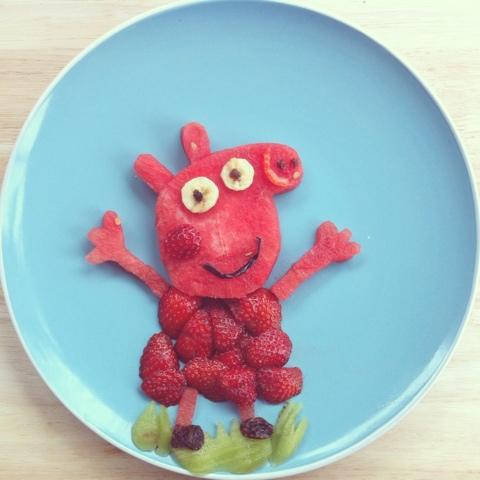Поделка свинка пеппа из овощей