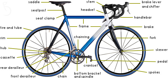 Bike Parts Drawing Road Bike Parts Diagram