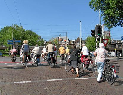 Cyclists in Holland