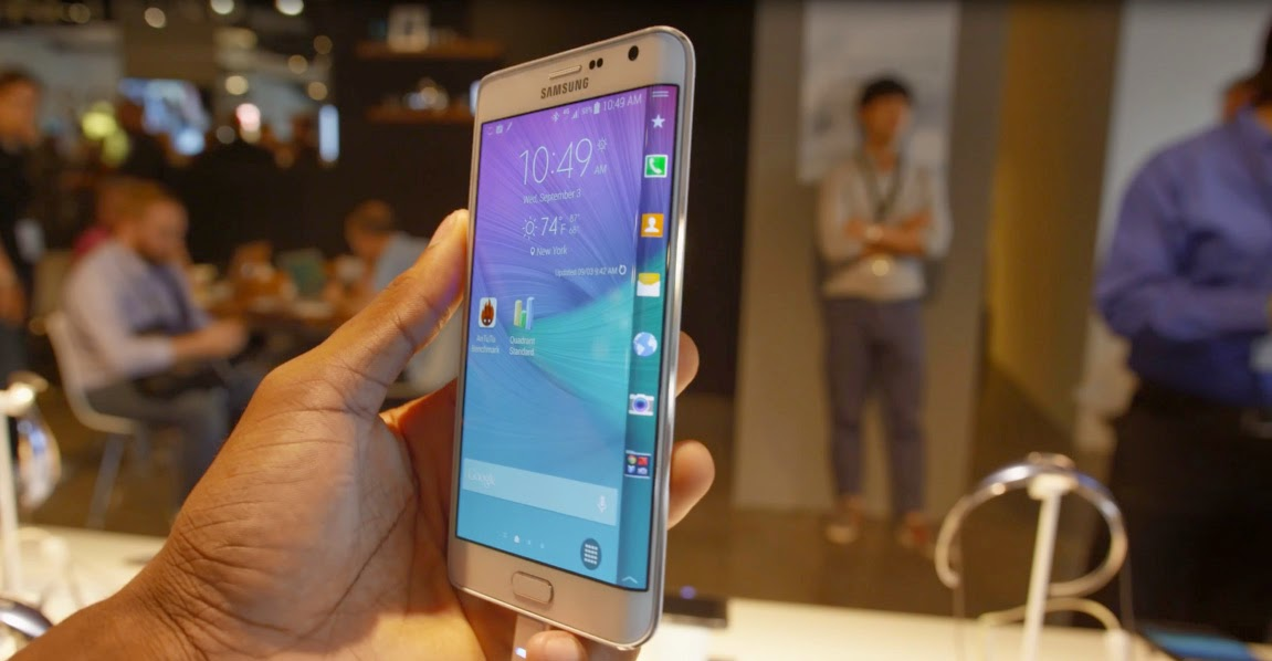 Samsung Galaxy Note Edge curve screen side view