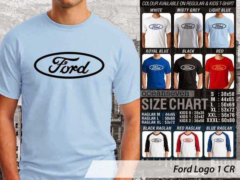 KAOS Ford 1 Logo Otomotif distro ocean seven