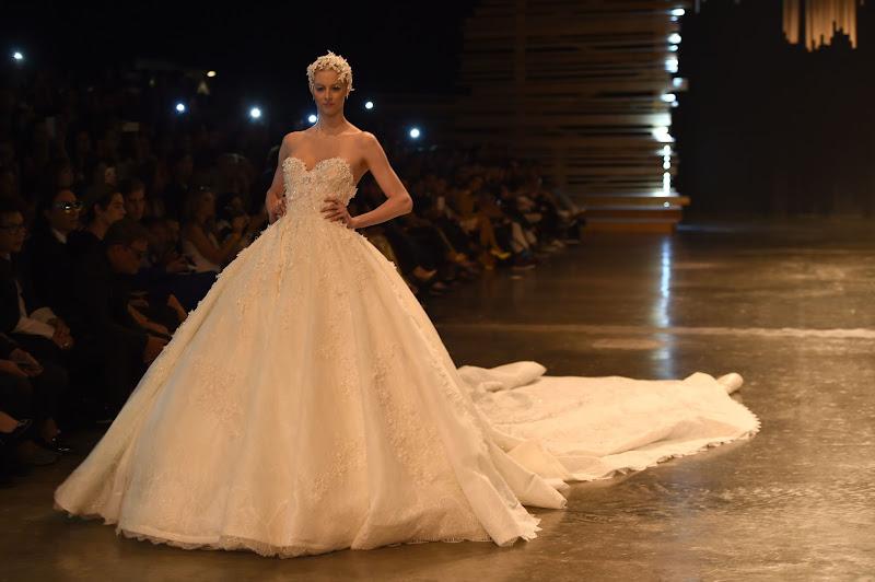 DUBAI, UNITED ARAB EMIRATES - APRIL 10:  A model walks the runway at the Ezra show during Dubai Fashion Forward April 2015 at Madinat Jumeirah on April 10, 2015 in Dubai, United Arab Emirates.  (Photo by Ian Gavan/Getty Images for Fashion Forward)