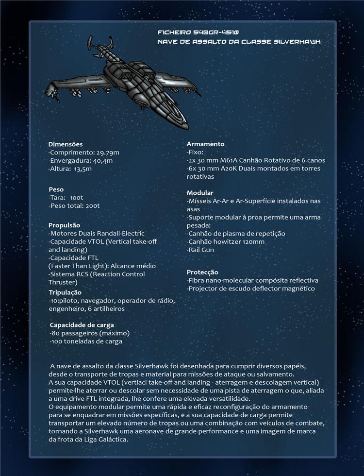 Protector da Fé - Ficha Técnica: Nave de assalto Silverhawk